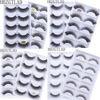 500Pairs 3D Mink Hair Natural Cross False Eyelashes Long Messy Makeup Fake Eye Lashes Extension Make Up Beauty Tools maquiagem