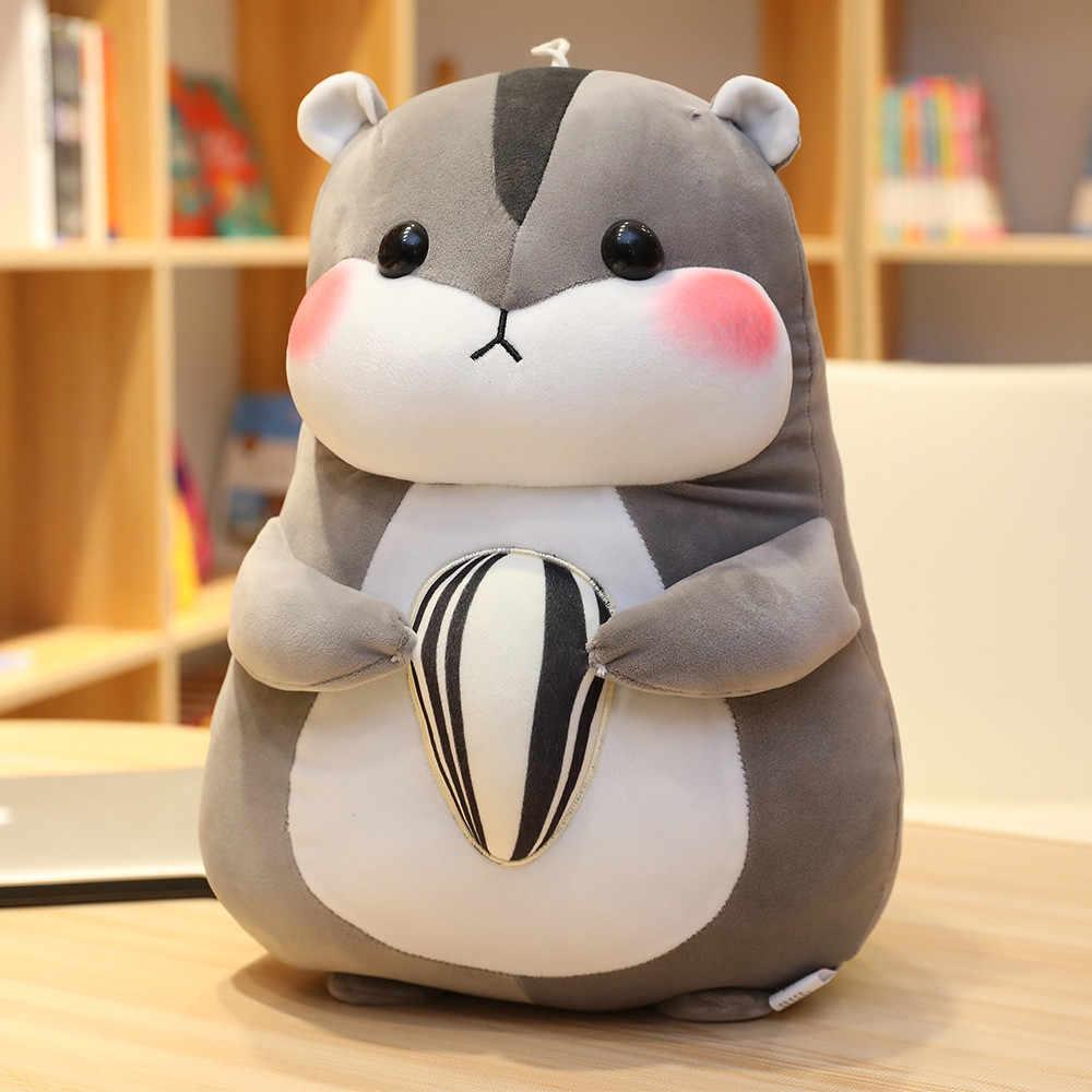 Hot New Huggable Cute Hamster Mouse pluszowe zabawki wypchane miękkie zwierząt Hamtaro Pilloq miękkie poduszki Kawaii urodziny prezent dla dzieci