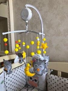 Image 5 - Baby Rammelaar Speelgoed 0 12 Maanden Wit Rotary Mobiele Op Het Bed Pasgeboren Muziekdoos Bed Bel Knuffels houder Beugel Baby Jongen Speelgoed