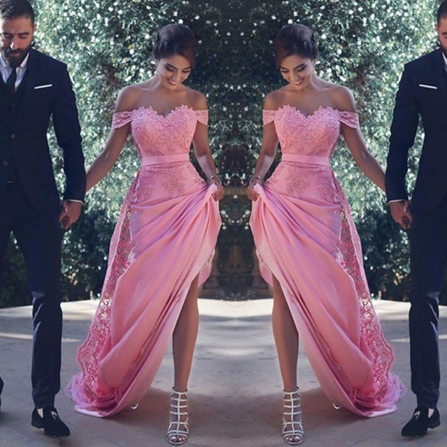Sexy Off The Shoulder Bridesmaid Dress 2