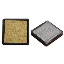 2 шт чернильная прокладка для печати Подушечка для свадебного письма, золотой и серебряный