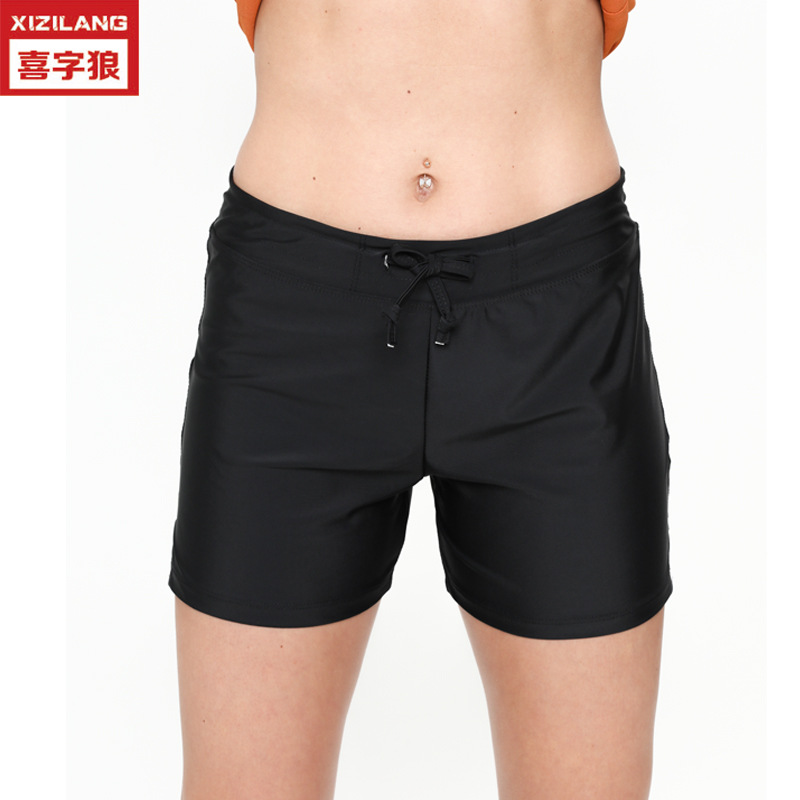 Europe And America New Style AussieBum Women's Solid Color Large Size Summer Beach Shorts Swimming Sports Shorts Hot Selling