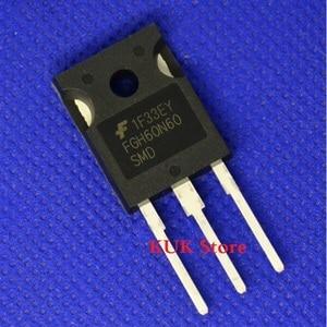 Image 1 - מקורי 100% חדש FGH60N60SMD FGH60N60 SMD FGH60N60SMDTU 600V 60A IGBT כדי 247 10 יח\חבילה