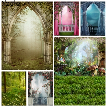 Yeele Landscape Photocall Arch Door Fog Fence Flower Photography Backdrop Personalized Photographic Backgrounds For Photo Studio