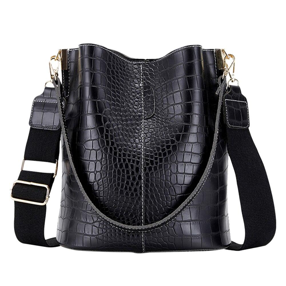 Retro Krokodil Crossbody-tasche Für Frauen Schulter Tasche Marke Designer Frauen Taschen Luxus PU Leder Tasche Eimer Tasche Handtasche 2021
