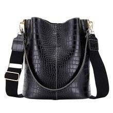 Rétro Crocodile sac à bandoulière pour femmes sac à bandoulière marque concepteur femmes sacs de luxe en cuir PU sac seau sac à main 2021