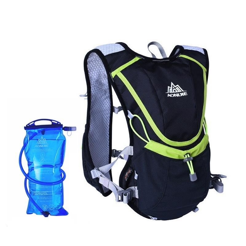 Professional Outdoors  Marathoner Running Race Hydration Vest Hydration Pack Backpack+2L Water Bag Blue