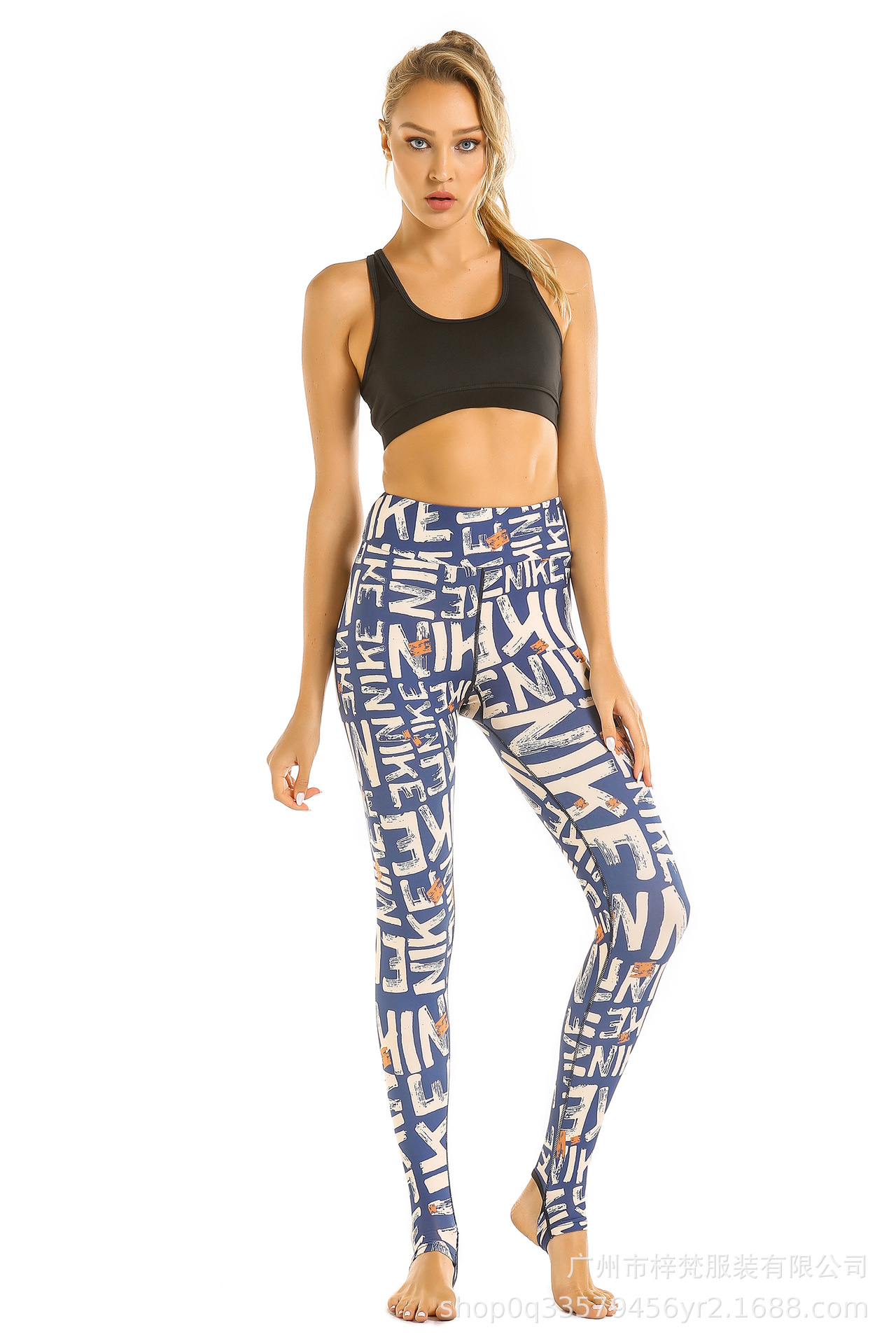 2019 Hot Selling Spring And Summer New Style Yoga Leggings Women's High-waisted Belly Holding Buttock Lifting Stepping Printed F