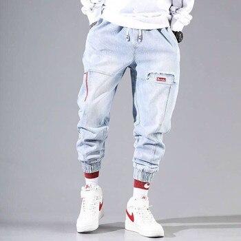Pantalones Cargo de Hip Hop para hombre, Pantalón elástico Harun, para correr, Otoño e Invierno 1