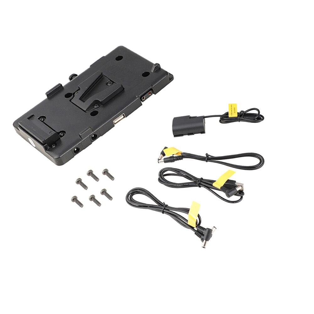 Kayulin adaptador de bateria divisor de energia adaptador com liberação rápida fêmea v montagem de bloqueio para câmera dslr luz de vídeo e monitor - 6