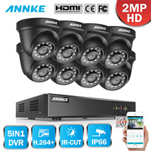 ANNKE 8CH 1080P Home Video Security System H.264 + 5in1 1080N DVR Mit 4X 8X Smart IR Dome Outdoor wetterfeste Kamera CCTV Kit