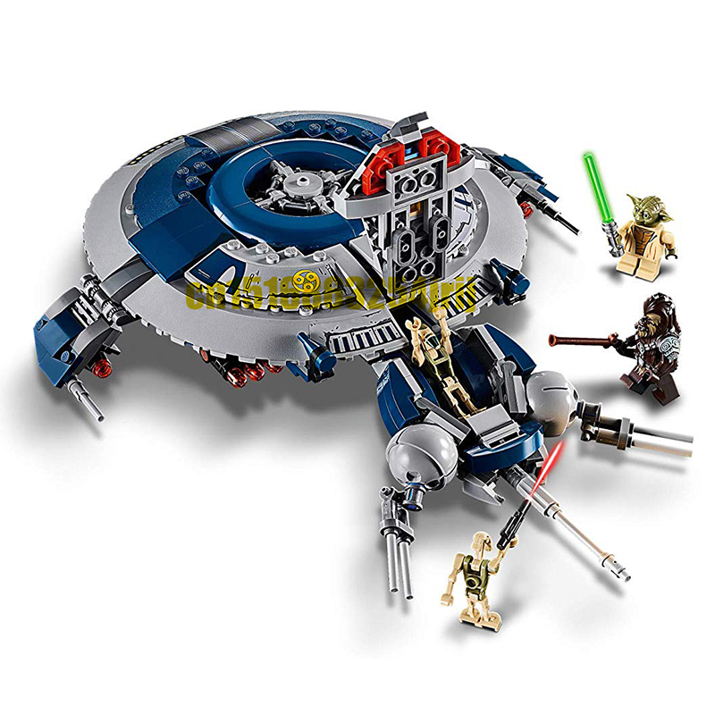 399pcs New 11420 Legoinglys Star Wars 75233 Avenger Of The Sith Starfighterd Imperial Landing Building Blocks Bricks Kids Gift
