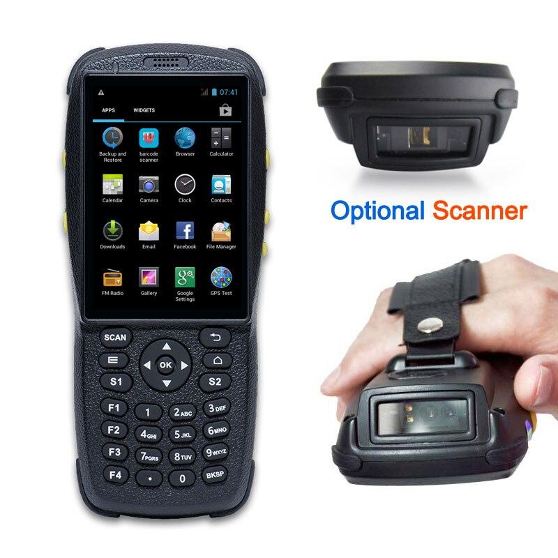 Android мобильный телефон, промышленный КПК для управления запасами с бесплатным сканером штрих-кодов SDK, считывателем NFC