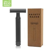 HAWARD בטיחות תער גברים של כפול קצה קלאסי ידני מכונת גילוח אבץ סגסוגת ראש מתכת תער עבור גילוח ושיער 20 להבים
