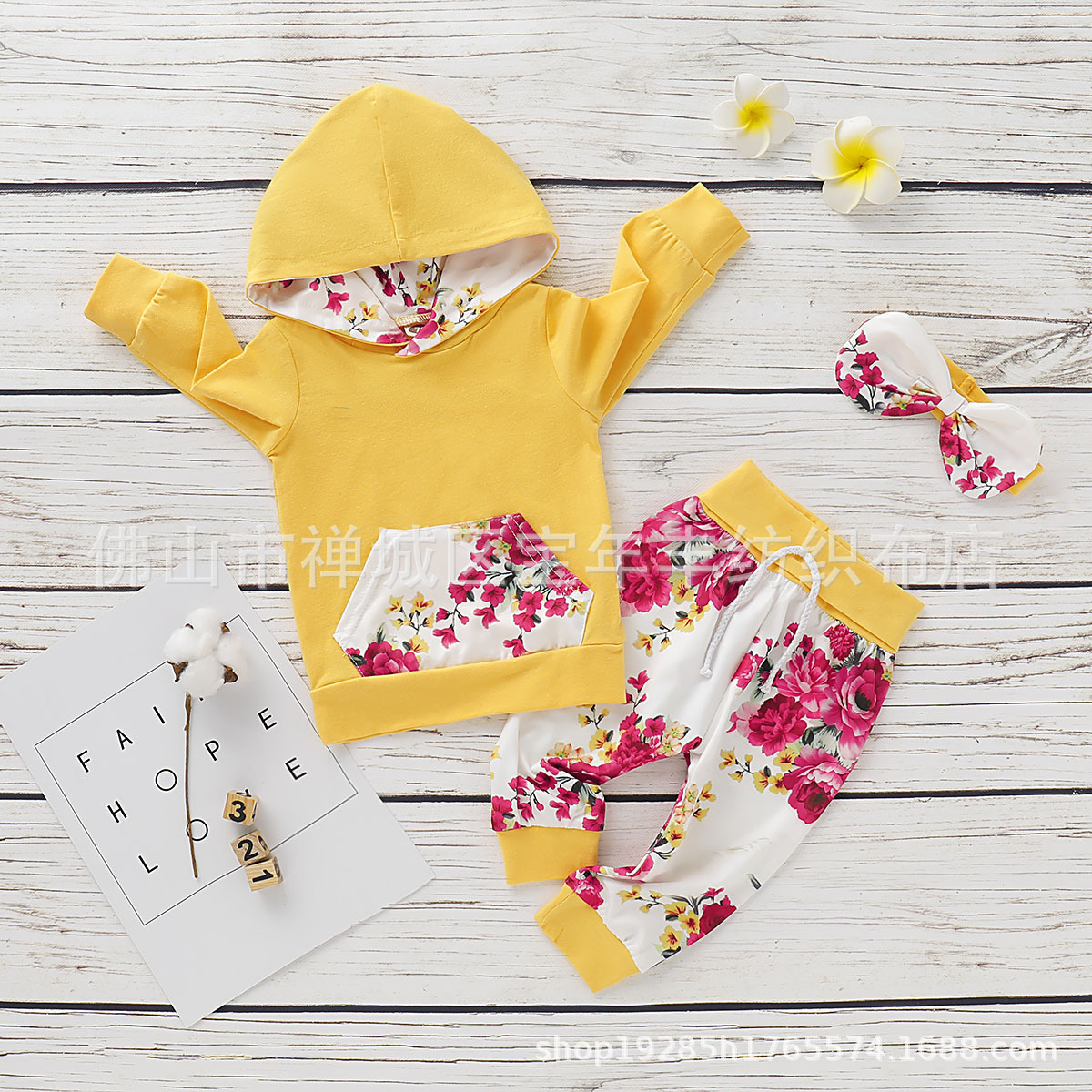 Children's Clothing  Striped Long-Sleeved Casual Printing Hooded  set D09.21 4
