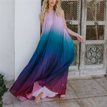 2020 Sexy Bikini Cover-ups Strap Halter Back Open Loose Summer Dress Women Plus Size Beachwear Swimsuit Cover Up Sarongs A124 1