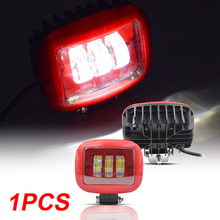 Off-road Vehicle Truck 30W Square Working Light Lamp 800LM DC 9-30V White 6000K Aluminum + PC