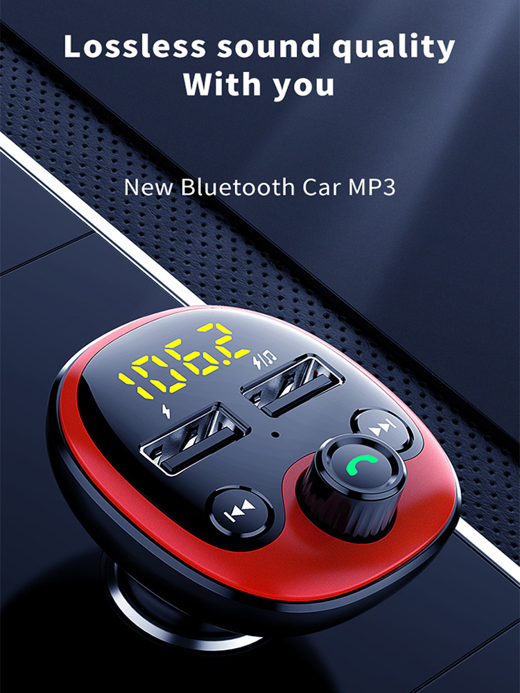 Mp3-Player Gadgets Car-Kit Radio Car-Accessories Fm-Transmitter Dual-Usb-Charger Bluetooth Car