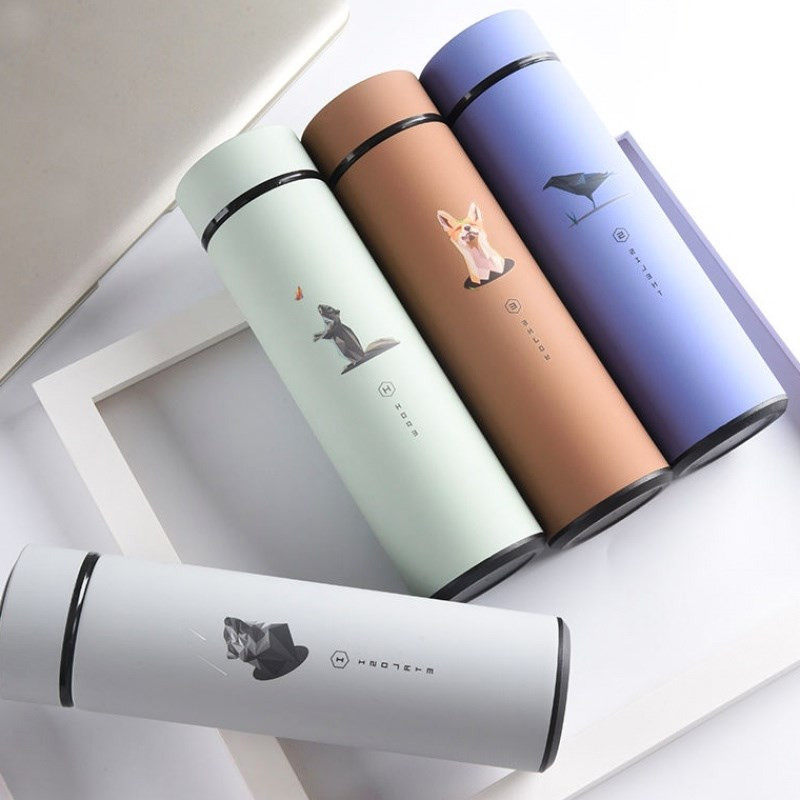 Double Wall Thermos Bottle Stainless Steel Vacuum Flasks Thermos Coffee Tea Milk Travel Mug Thermo Water Bottle 500ml