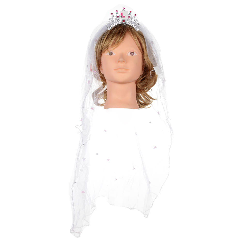 White Veil with Comb for Hen Night Wedding Girl/'s Party Bridal Hair Accessories