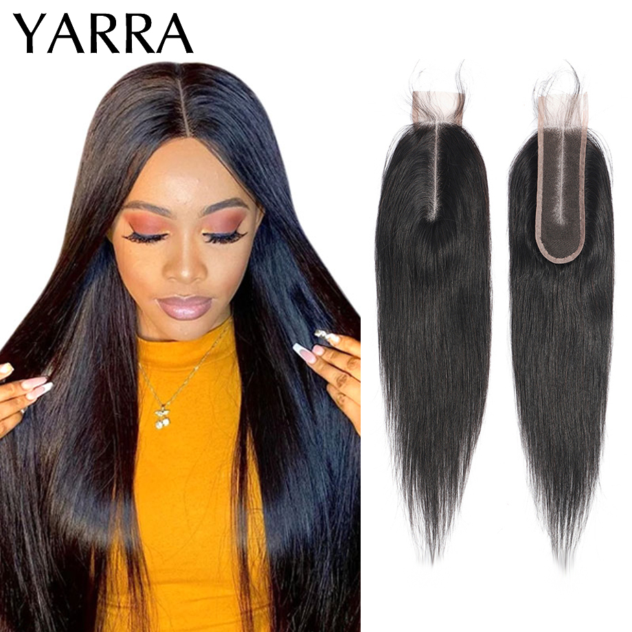 Brazilian Straight 2x6 Lace Closure Only 100% Human Hair Weave 2x6 Closure Straight Hair Pre Plucked with Baby Hair Remy Yarra