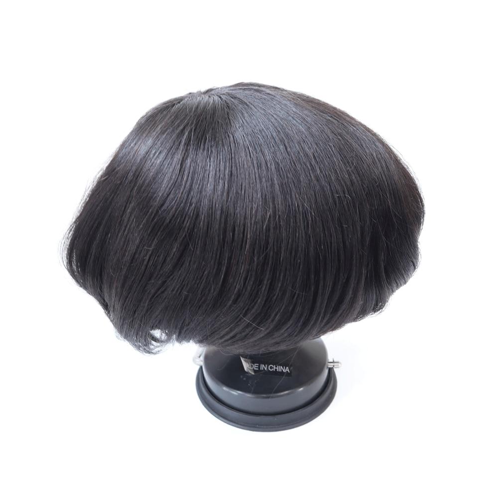 Semi Quality Clearance Sale Human Hair Men Toupee Durable Fine Mono Base 6 Inch Length Men Hair Unit Indian Human Hair Prosthesi