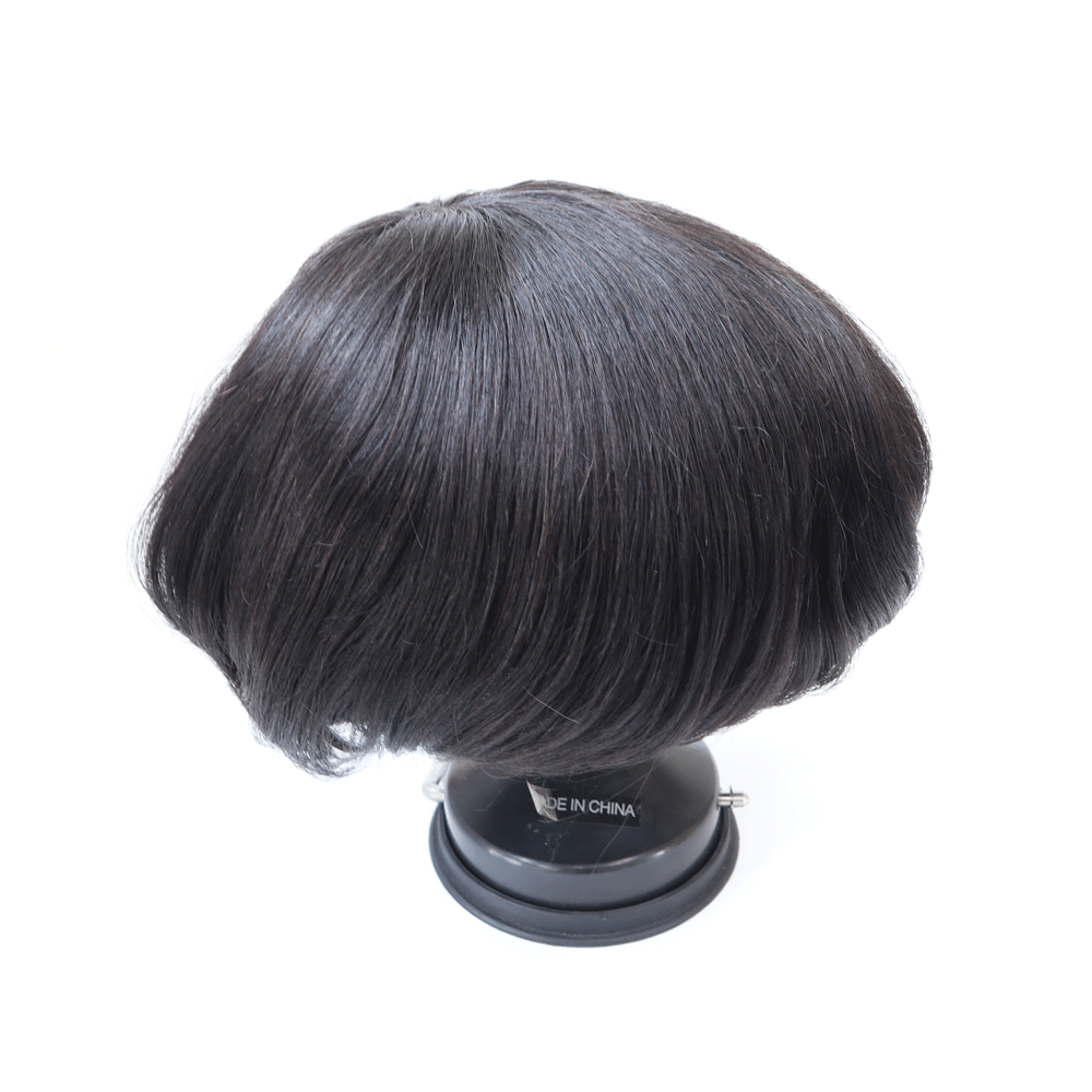 Semi Quality Clearance Sale Human Hair Men Toupee Durable Fine Mono Small Size 6 Inch Men Hair Unit Indian Human Hair Prosthesi