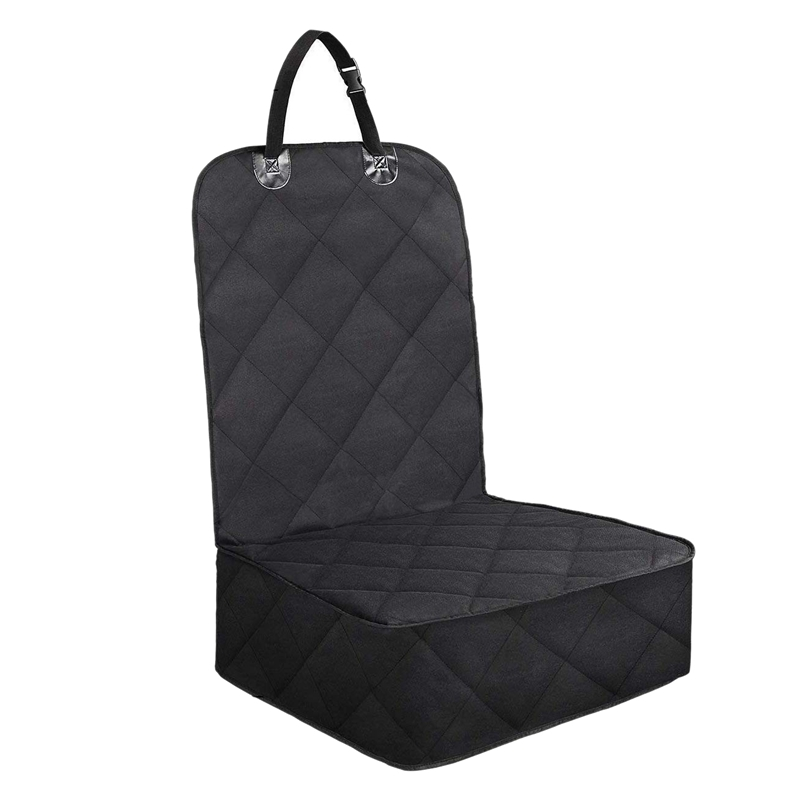 Pet Front Seat Cover for Cars  Dog Car Seat Cover  Nonslip Rubber Backing with Anchors  Black Car Anti-dirty Pad     - title=