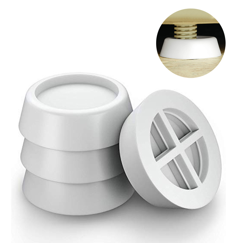 4Pcs White Washing Machine Foot Pads for Anti-vibration Washer and Dryer Anti Slip Mat Rubber Isolat