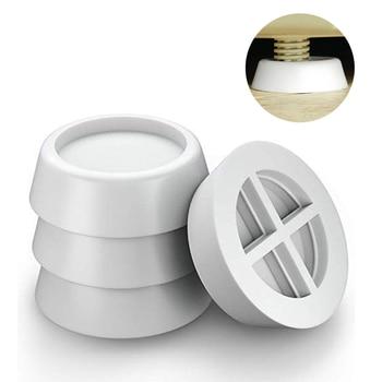 4Pcs White Washing Machine Foot Pads for Anti-vibration Washer and Dryer Anti Slip Mat Rubber Isolation Feet