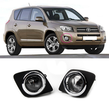 Magic ColorM 2PCS For Toyota RAV4 2009-2012 Fog Light Manufacture Direct Sale Car Chrome Trim Halogen Fog Lamp Accessories