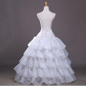 Image 3 - Trắng 4 Vòng Cưới Bầu Crinoline Cô Dâu Petticoat Váy Tây Nam Không