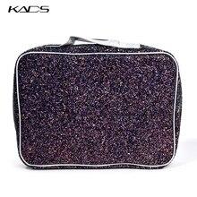 KADS Pink & Black Big size Stamping Plate Holder Storage Bag Case Nail Stamping Bag Nail Art Stamp Template Organizer Suitcase