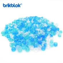 About 500pcs/lot MOC Brick Round Plate 1x1 Transparent Simulated Ocean Boats Part Building Block Toys for Children 4073