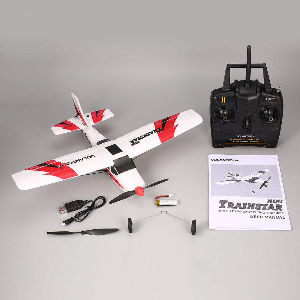 NEW VOLANTEX V761-1 2.4Ghz  Mini Remote Control Airplane Fixed Wing Drone Trainstar 3CH 6-Axis  Plane RTF For Kids Gift Present
