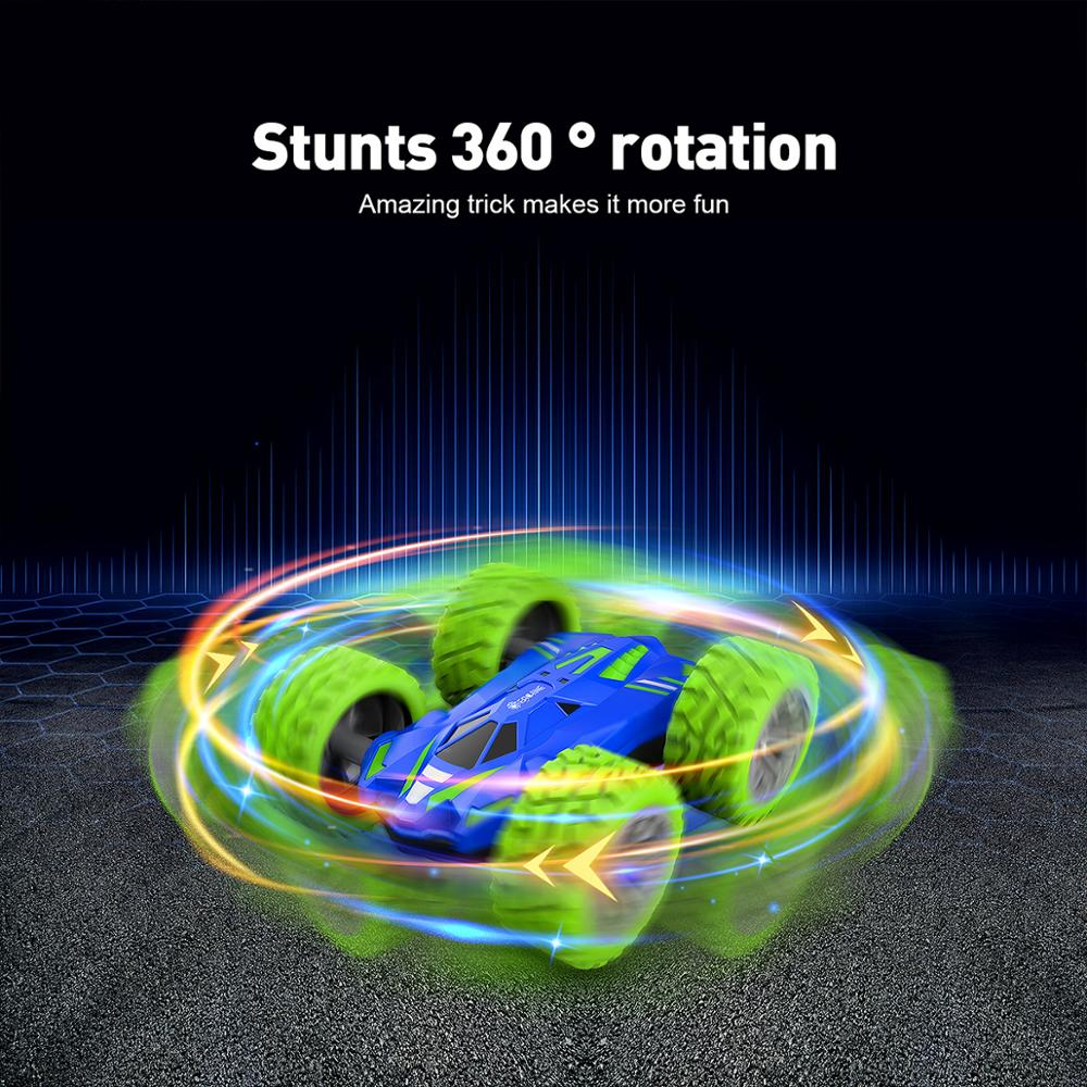 Eachine ec07 RC Car 2.4G 4CH Stunt Drift Deformation Remote Control Rock Crawler Roll Flip Kids Robot Auto Toy 3