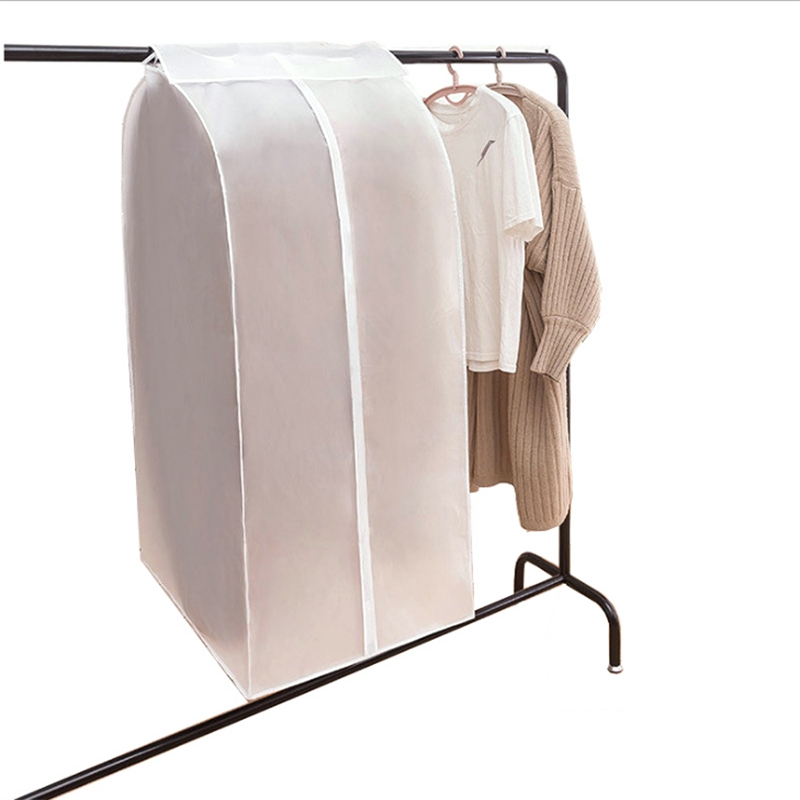 3 Pcs Storage Bags Clothes Protector Suit Coat Dust Cover Protector Clothes Storage Bag Family Home Hanging Organizer
