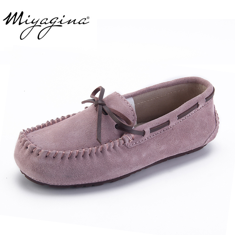 Top Fashion Women's Flat Shoes 100% Genuine Leather Woman Shoes Flats Casual Loafers Soft Slip On Moccasins Lady Driving Shoes