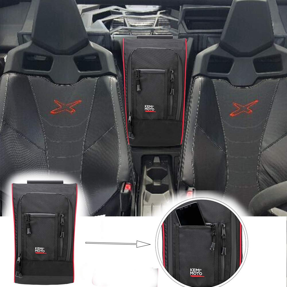 KEMiMOTO Marverick X3 Between Seats 1680D Waterproof Center Console Storage Bag For Can Am Maverick X3 2017 2018 2019