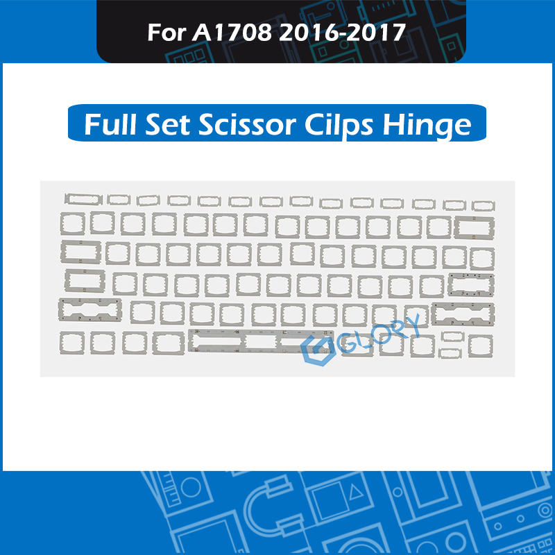 New Complete Set Scissor Cilps Hinge For Macbook Pro Retina 13'' A1708 Keyboards Keycaps Key Cap Repair