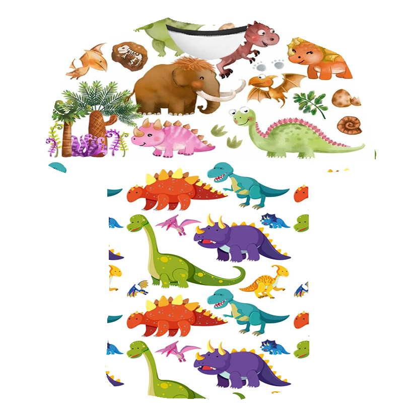 Children's T-Shirt Kids For Girl Boy Clothes Kid T Shirts Child Baby Toddler Dinosaur t shirts Party Tee Tops Short Sleeve Tees