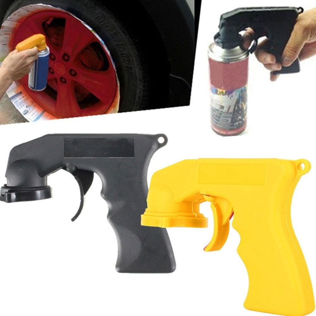 Spray Adaptor Paint Care Aerosol Spray Gun Handle With Full Grip Trigger Locking Collar Car Maintenance Painting Paint Tool