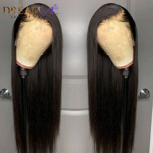 Image 5 - Prosto czerwona koronkowa peruka ludzki włos peruka głęboka część 13X4 Burgundy Remy włosy kolorowe peruka dla czarnych kobiet Preplucked 150% gęstości