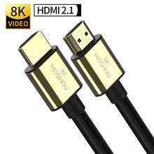 HDMI 2.0b 2.1 przewodów MOSHOU 8K 4K 60Hz MOSHOU 48 gb/s łuku wideo w wysokiej rozdzielczości przewód do wzmacniacza telewizor z dostępem do kanałów