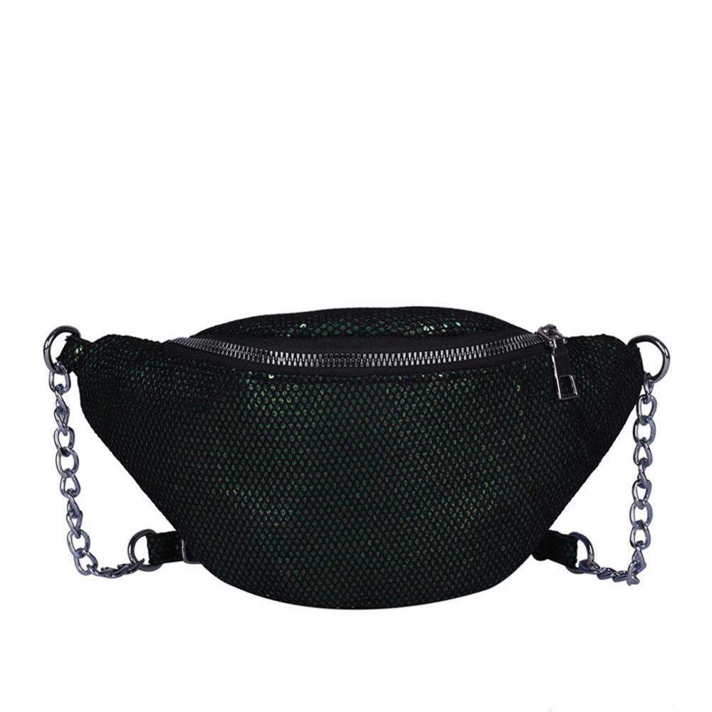 Women Girls Sequins Glitter Waist Bag Fanny Pack Hip Purse Satchel Gift Fashion Cool Coin Crossbody Shouder Waist Pack