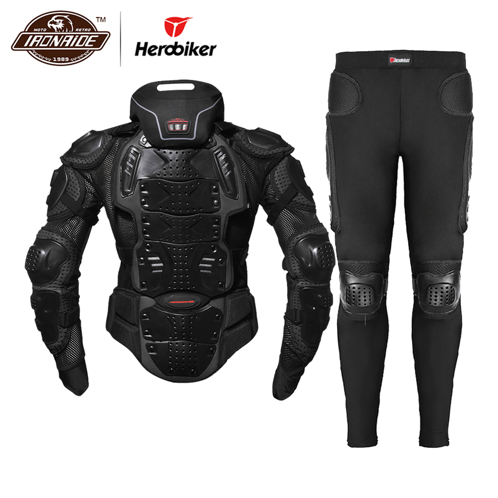 HEROBIKER Motorcycle Jacket Men Body Armor Motorcycle Armor Moto Motocross Racing Jacket Riding Motorbike Moto Protection  S-5XL
