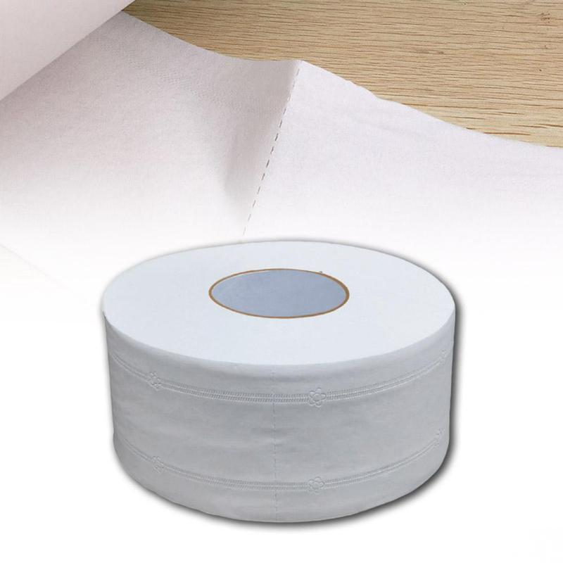 4 Ply Jumbo Roll Toilet Paper Soft Large Bathroom Tissue Roll Native Wood Thick High-temperature Disinfection Household Office