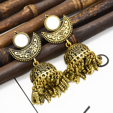 Women Top Indian Earrings Gypsy Jewelry Boho Vintage Ethnic Womens Hollow Water Drop For Gift