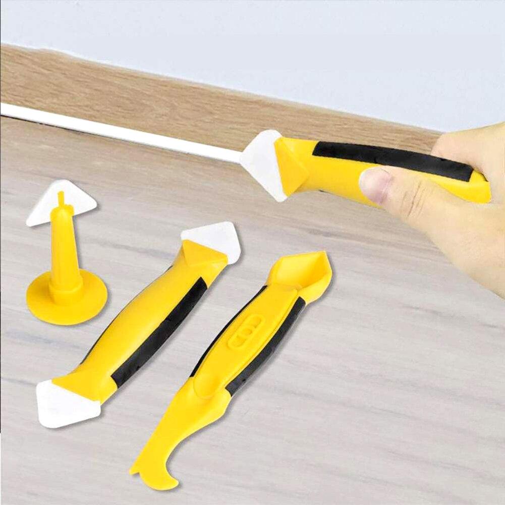 8pcs Silicone Sealant Finishing Tool Caulk Remover For Bathroom Kitchen Sealing Corner Scraper Caulking Tool