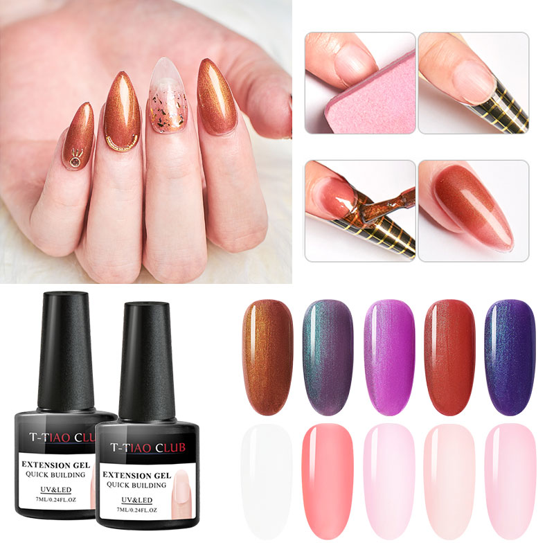 Acrylic Poly Gel Quick Extension Gel Polish Clear Pink